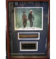 Lone Ranger, The (Johnny Depp / Armie Hammer) Signed 8x10 Photo by Johnny Depp and Armie Hammer Double Matted and Framed with a Railroad Spike from the movie ready to be displayed on your wall!
