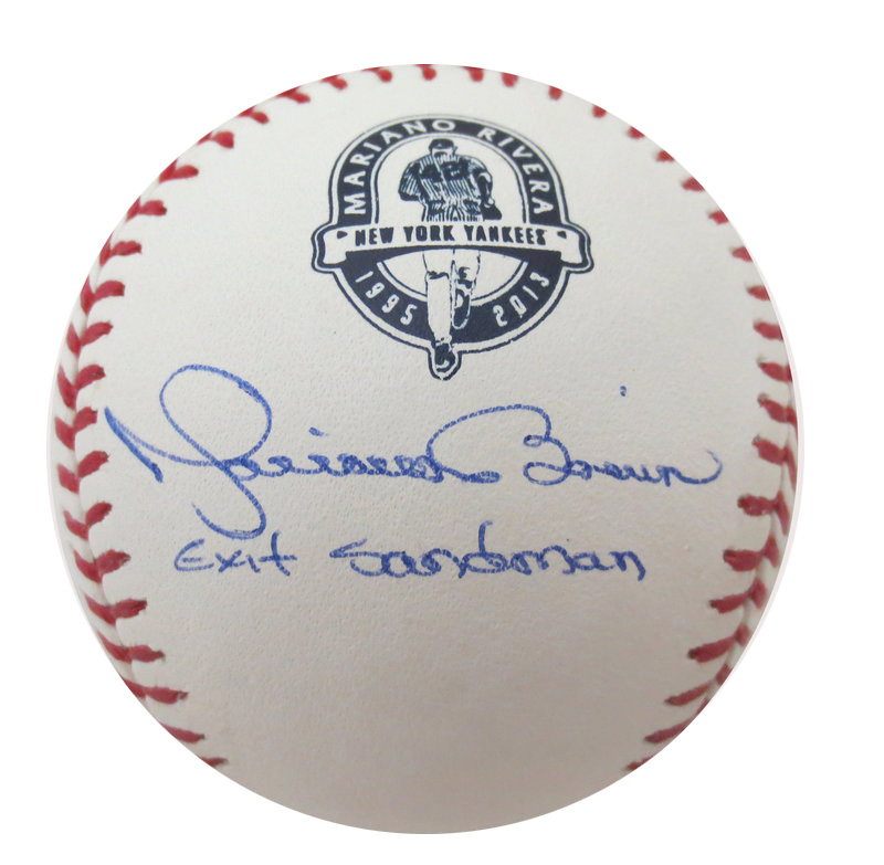 new arrival 1825e 76f5e Mariano Rivera Signed Exit Sandman Baseball from Powers ...