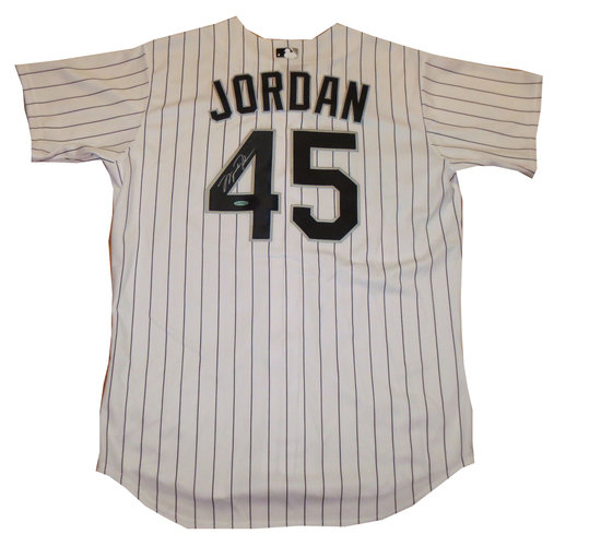 separation shoes 9f313 03917 Michael Jordan Signed Chicago White Sox Jersey UDA COA ...