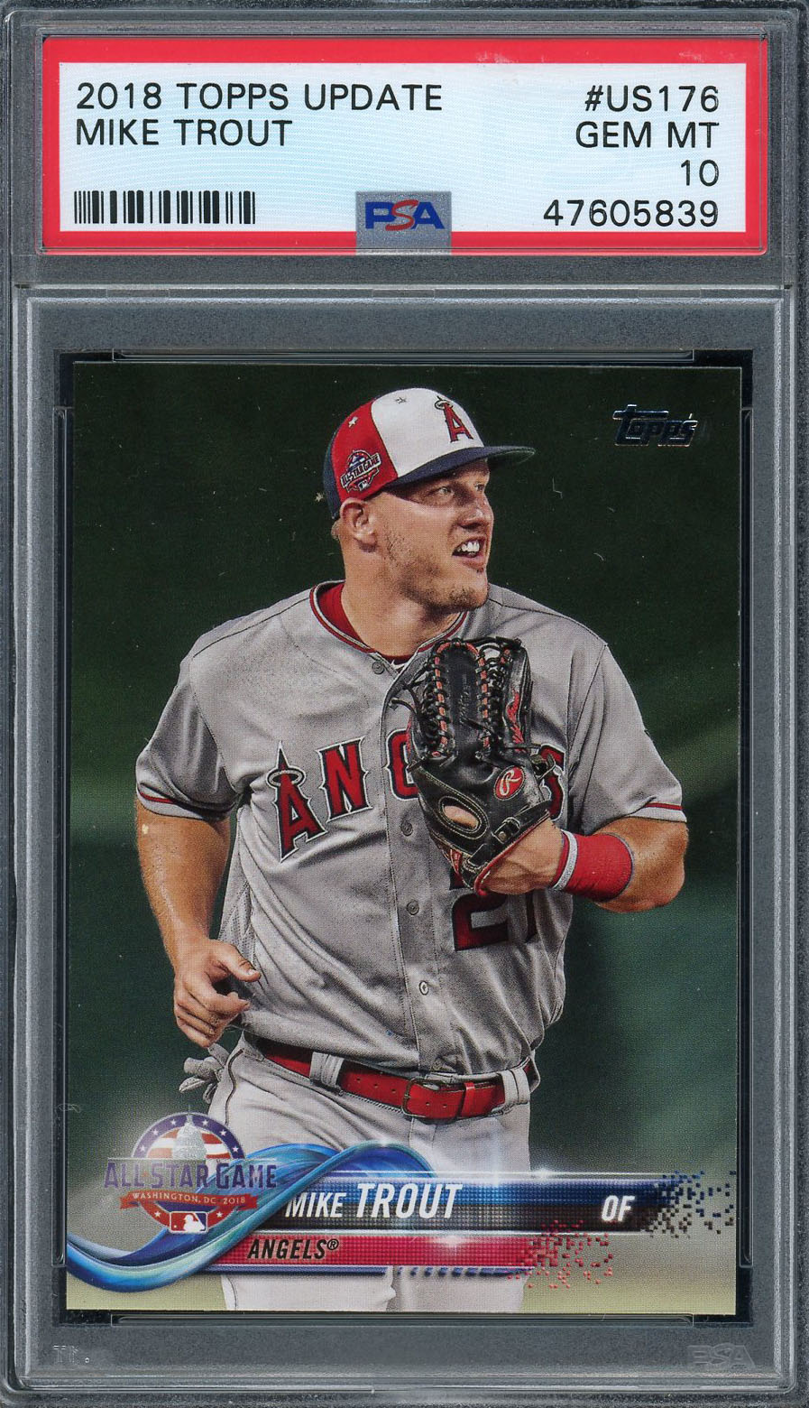 Mike Trout Los Angeles Angels 2018 Topps Update Baseball Card #US176 Graded PSA 10 GEM MINT Mike Trout Los Angeles Angels 2018 Topps Update Baseball Card #US176 Graded PSA 10 GEM MINT