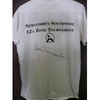 Newcombe, John Signed Newcombe Tennis Camp T-Shirt (Dirty and Stained on parts of shirt)