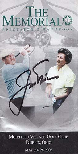 Nicklaus, Jack Signed Memorial Spectator's Handbook. (JSA Authenticated)