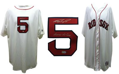 Nomar Garciaparra Signed Red Sox Jersey Reverse Curse MLB COA signed ... 181fc587ad2