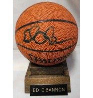 O'Bannon, Ed Signed Spalding Mini Basketball. Come with stand and nameplate to attache to stand.
