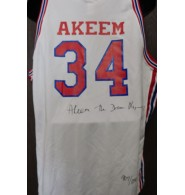 Olajuwon, Akeem Signed authentic Houston Cougars jersey size 48. Individually numbered. Limited to 1250.