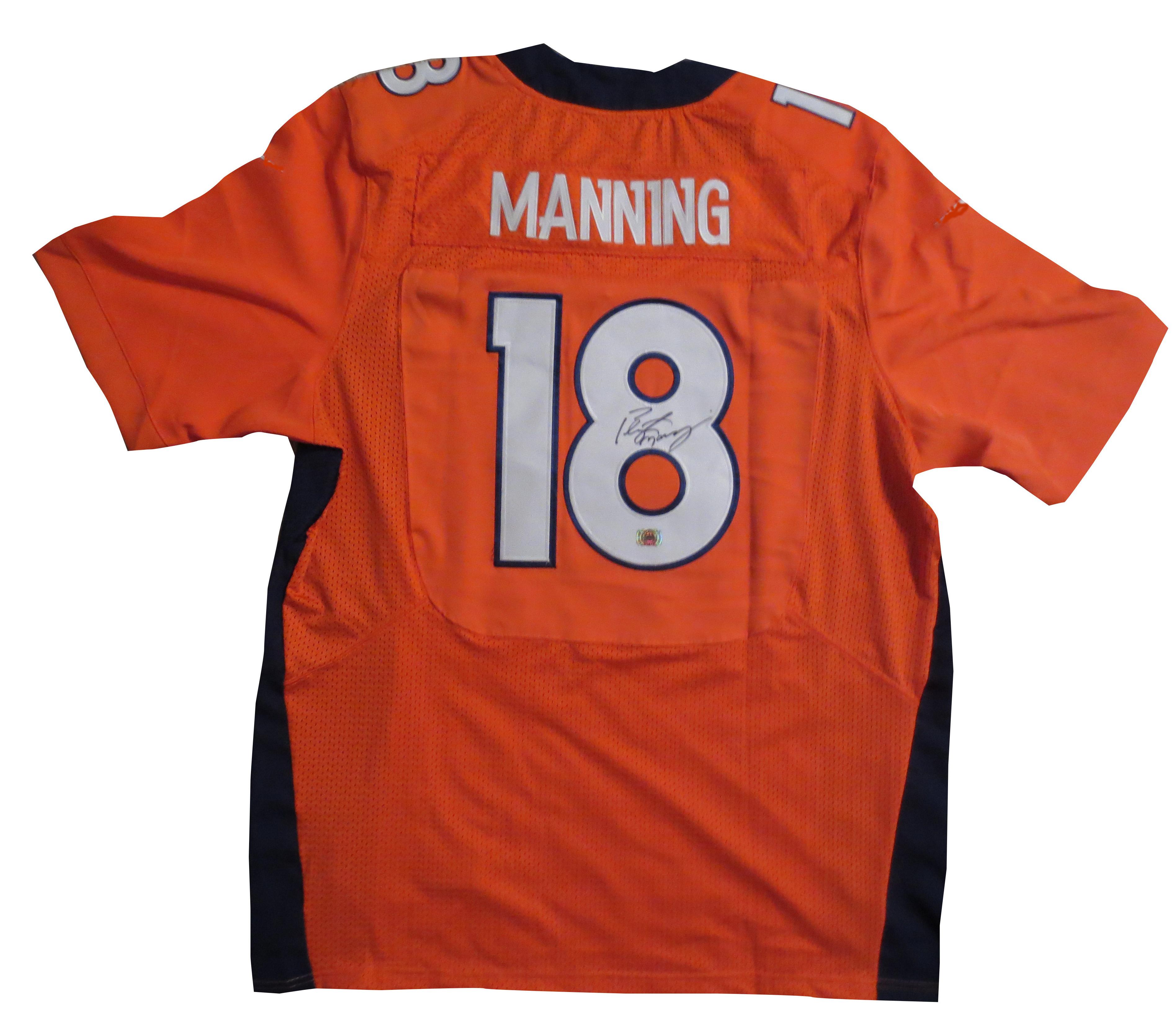 peyton manning signed jersey broncos