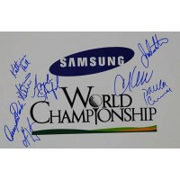 Samsung World Championship Signed 12x18 Photo by Julie Inkster, Cristie Kerr, Paula Creamer, Angela Stanford, Katherine Hull, Angela Park, Karrie Webb and Se Ri Pak.