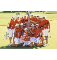 United States Solheim Cup (2009) Signed 12x18 Photo by 2009 United States Solheim Cup PLayers including Beth Daniel, Natalie Gulbis, Brittany Lang, Kristy McPherson, Juli Inkster, Brittany Lincicome, Meg Mallon, Christina Kim, Angela Stanfor, Paula Creamer, Morgan Pressel and Cristie Kerr.