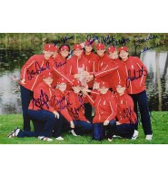 United States Solheim Cup (2007) Signed 12x18 Photo by 2007 United States Solheim Cup Players including Beth Daniel, Natalie Gulbis, Laura Diaz, Juli Inkster, Brittany Lincicome, Nicole Castrale, Sherri Steinhauer, Pat Hurst, Paula Creamer, Stacy Prammanasudh, Angela Stanford, Morgan Pressel and Cristie Kerr.