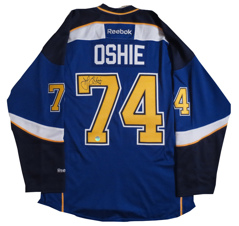 quality design f5427 133e5 T.J Oshie Signed St Louis Blues Jersey from Powers Autographs