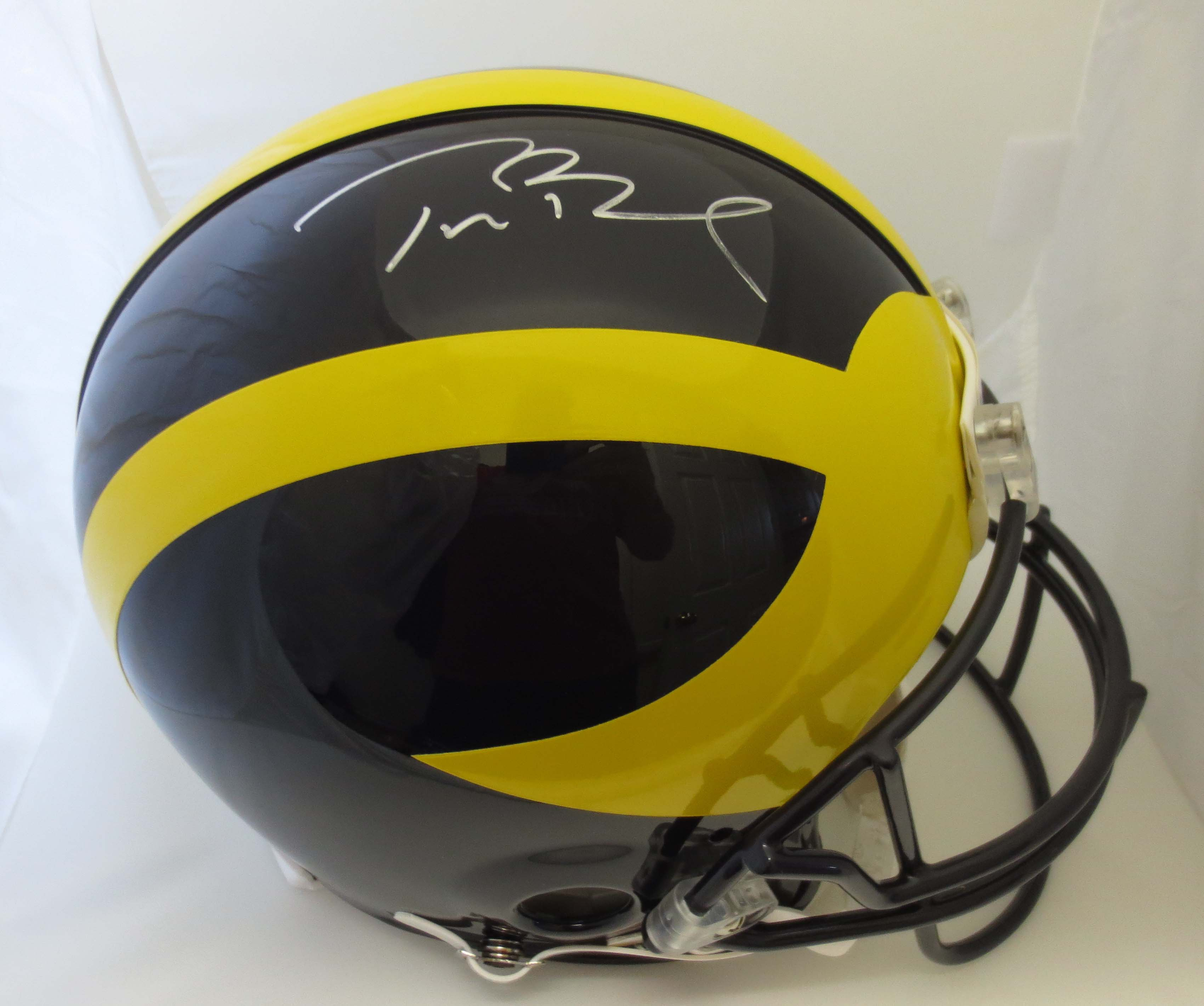 size 40 157bf 42a47 Tom Brady Signed Michigan Helmet from Powers Autographs