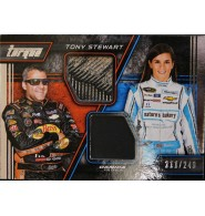 Tourque (Tony Stewart / Danica Patrick) Tony Stewart and Danica Patrick 2016 Panini Torque Dual Material Insert Card. #211/249