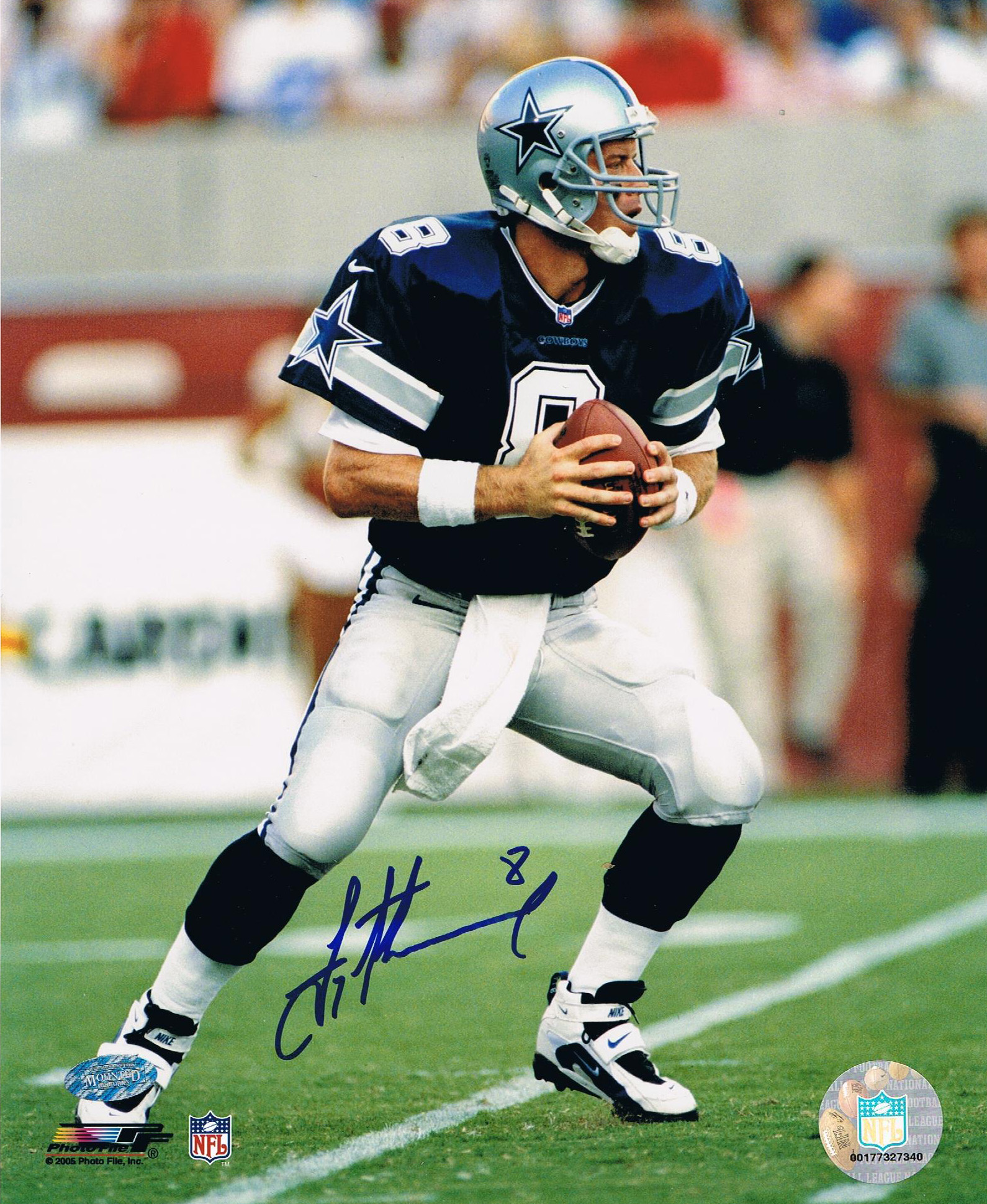 foto de Troy Aikman Signed Cowboys 8x10 Photo from Powers Autographs