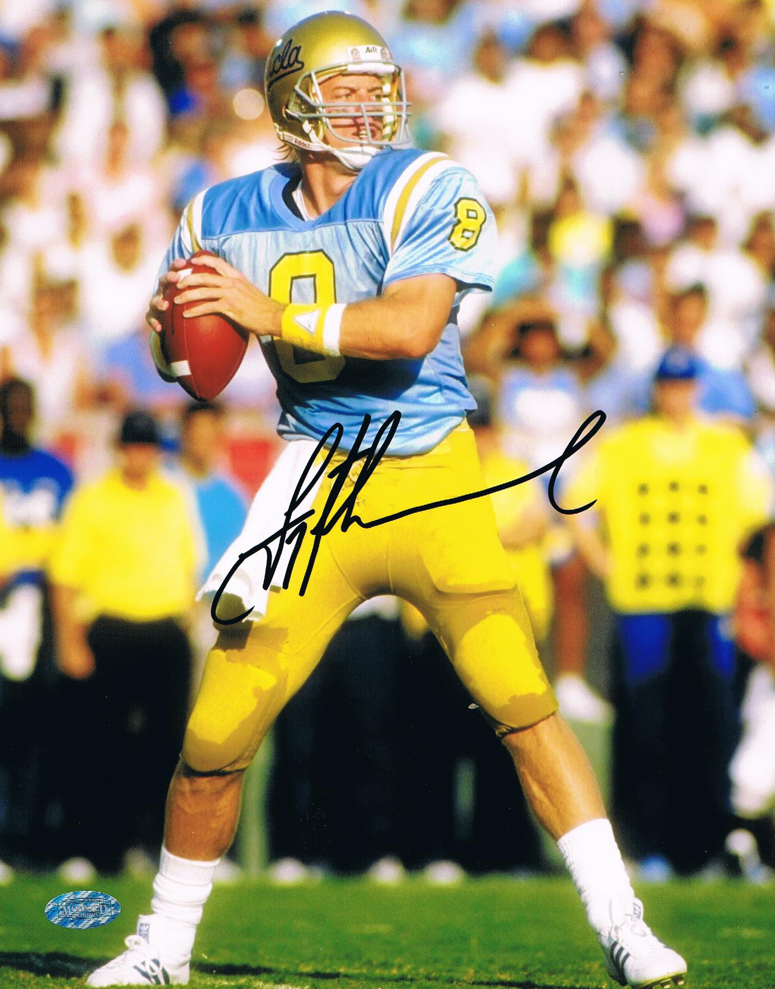 foto de Troy Aikman Signed UCLA 8x10 Photo from Powers Autographs