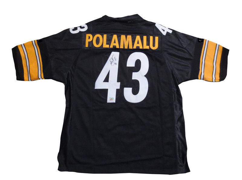7ae894fef Troy Polamalu Autographed Pittsburgh Steelers Signed Football Jersey AAA COA