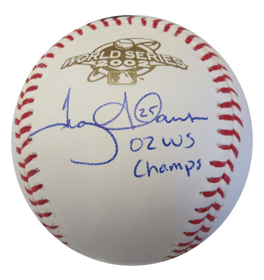 028948e1dba Troy Glaus Signed 2002 Angels World Series Autographed Baseball CHAMPS  PSA DNA COA
