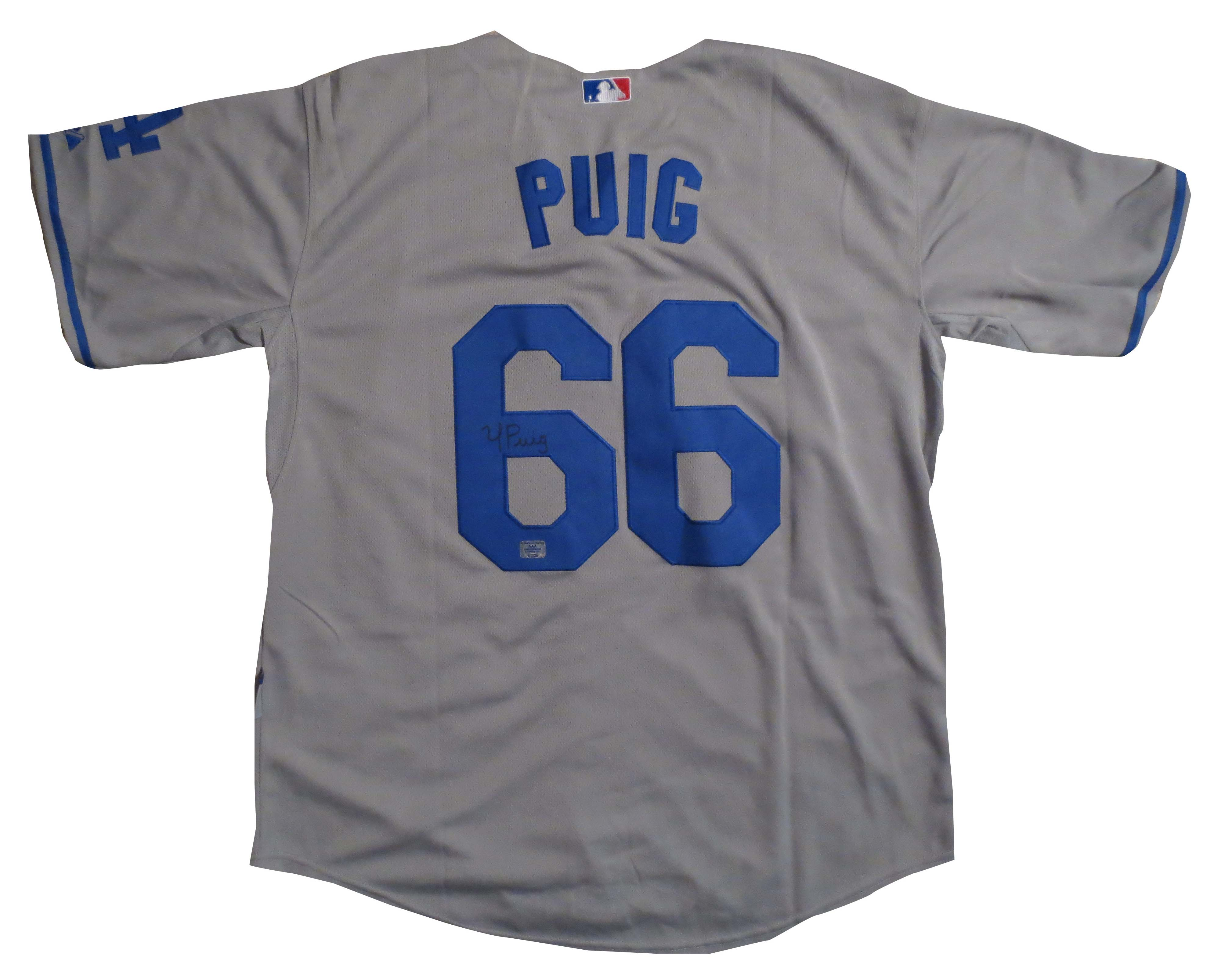 Yasiel Puig Signed Dodgers Jersey from Powers Autographs 8320d34d9b7