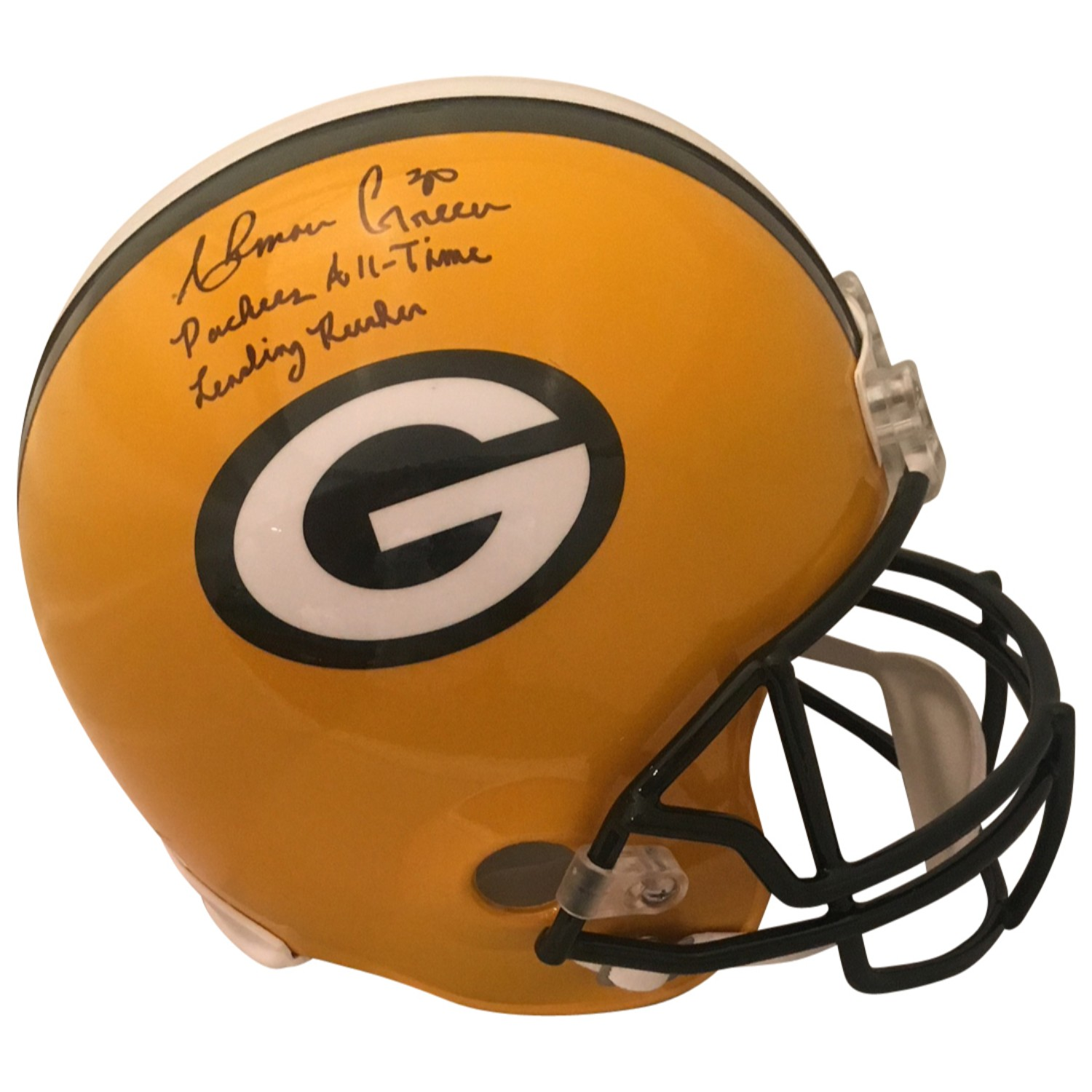 Ahman Green Autographed Green Bay Packers Signed Full Size Football Helmet ALL TIME RUSHER JSA COA