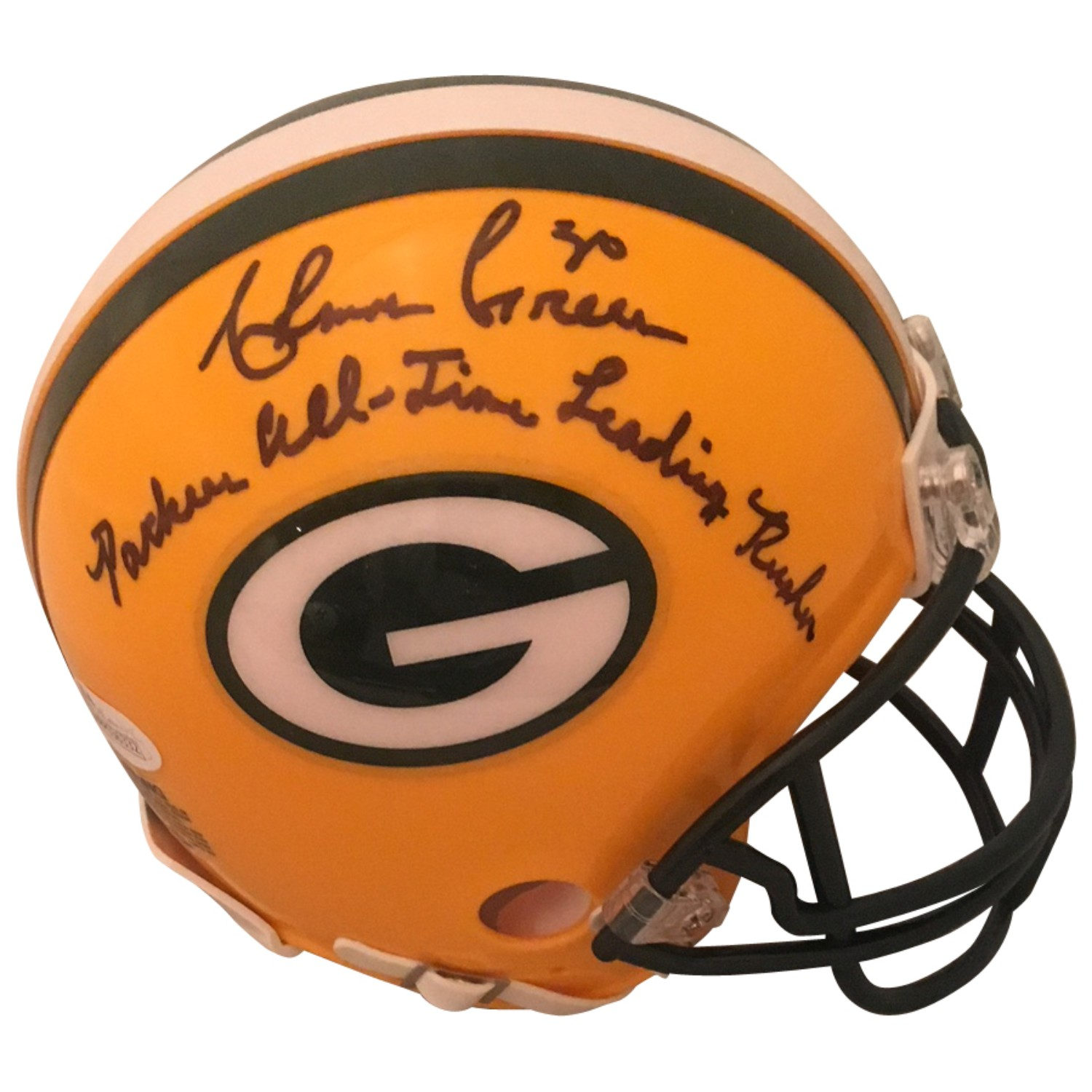 save off 8c5c6 1a5f1 Ahman Green Autographed Green Bay Packers Signed Football ...