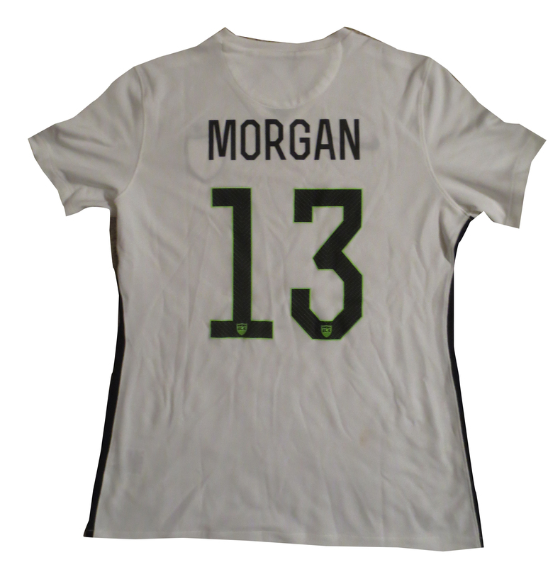 711481cef8f ... Autograph Soccer Jerseys: Alex Morgan Autographed Team USA 2015 World  Cup Signed