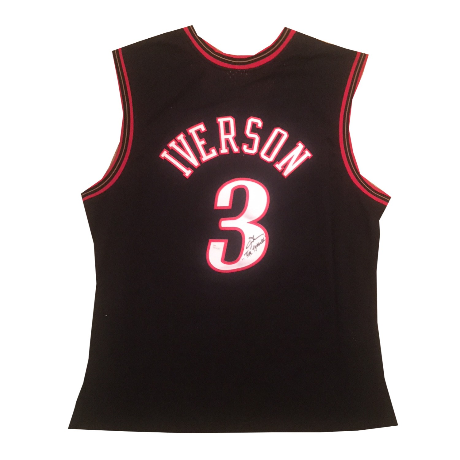 Allen Iverson Autographed Philadelphia 76ers Signed Mitchell & Ness Swingman Basketball Jersey THE ANSWER JSA COA