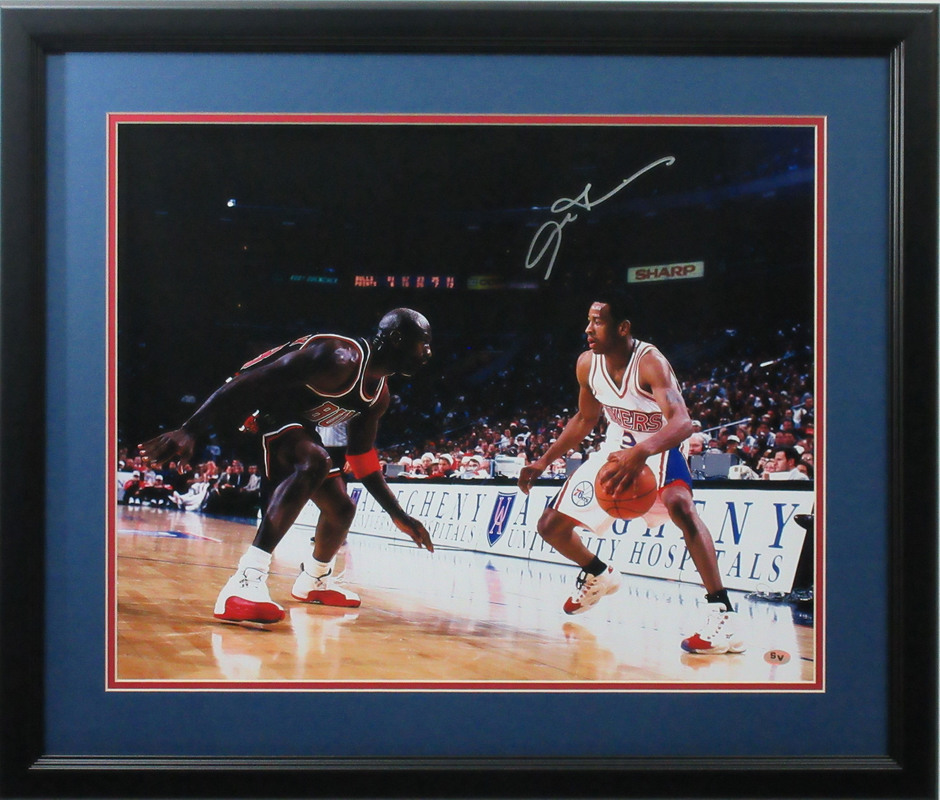 Allen Iverson Autographed 76ers Signed Framed 16x20 Basketball Photo ...