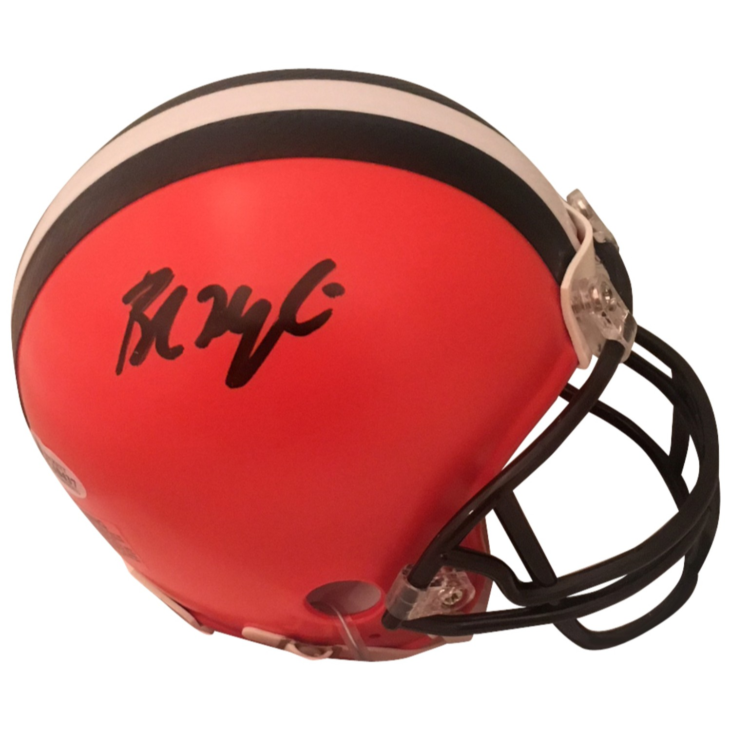 Baker Mayfield Autographed Cleveland Browns Signed Football Mini Helmet Beckett COA