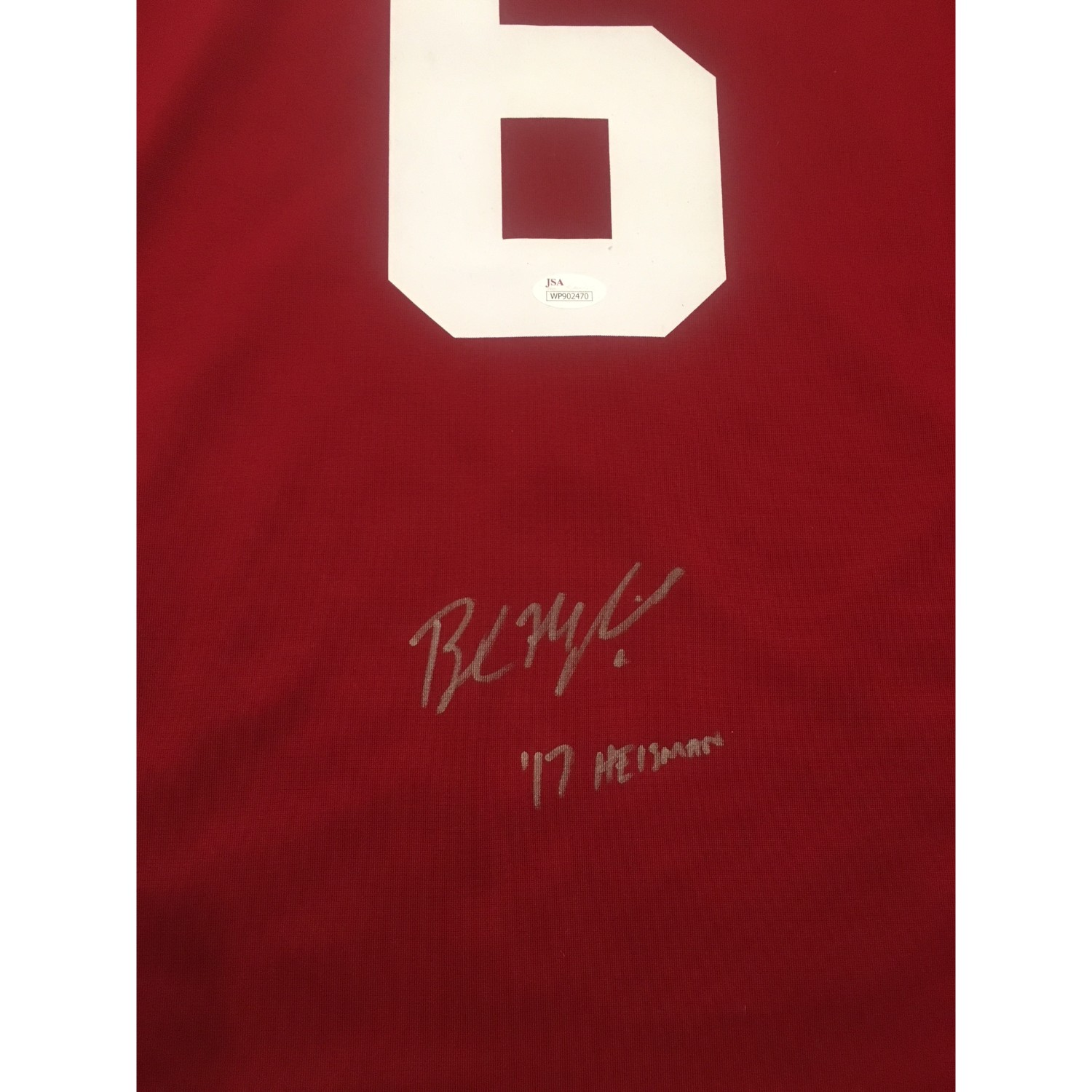 baker mayfield signed jersey