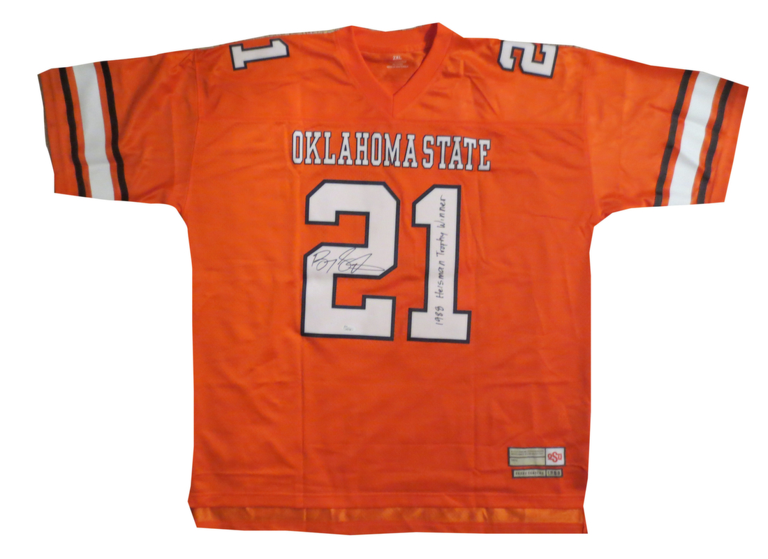timeless design 43ba3 bb49f Barry Sander Signed Oklahoma State Jersey from Powers Autographs