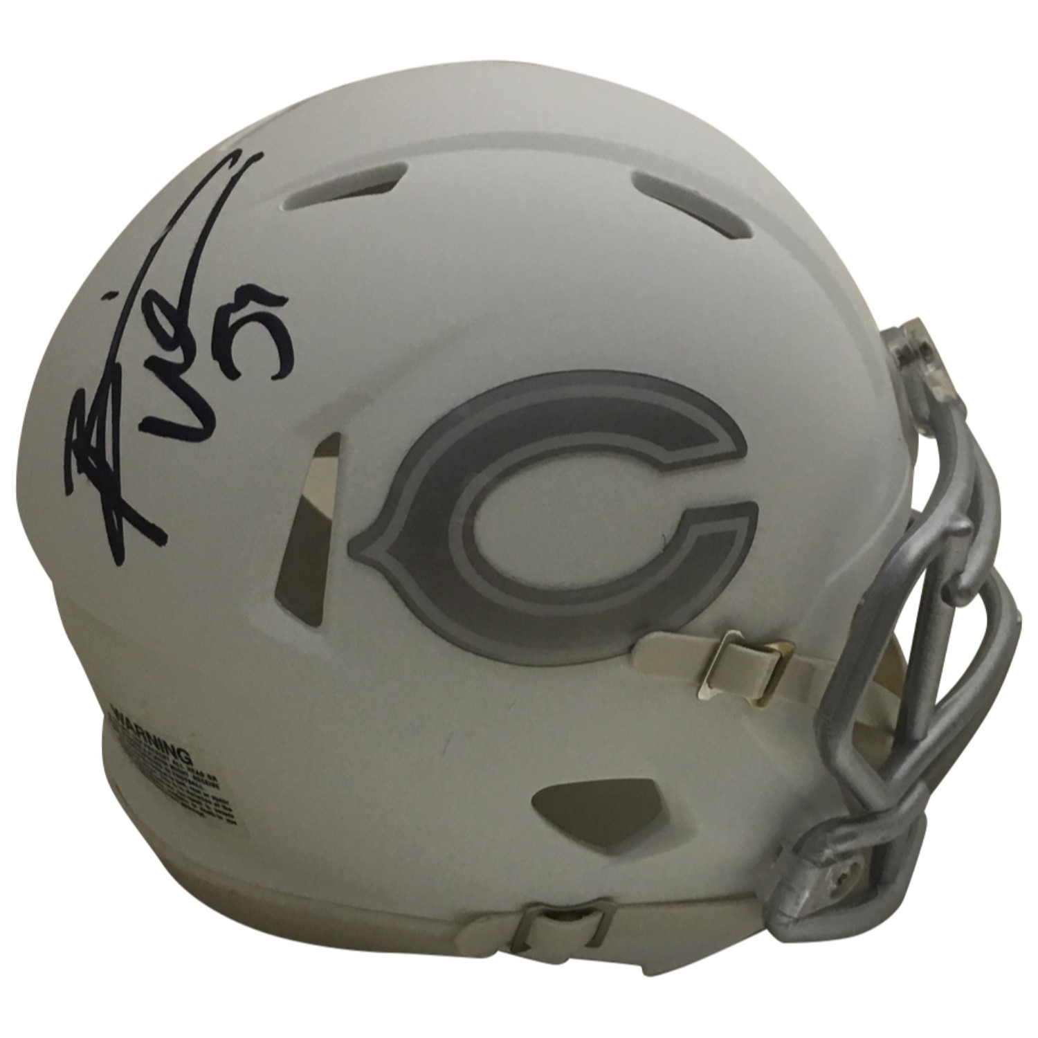 "Brian Urlacher Autographed Chicago Bears Signed ICE Football Mini Helmet JSA COA Bears Hall of Fame linebacker Brian Urlacher has autographed this Chicago Bears ""ICE"" mini helmet.  A cool collectible as the ""ICE"" mini helmets were in very limited production.  Autograph is authenticated by James Spence Authentication (JSA), the world's leading authenticator of sports autographs. Comes with their unique sticker # fixed to the item and verified on their website. Also, comes with their certificate of authenticity with same matching sticker #. Receive EXACT item shown."