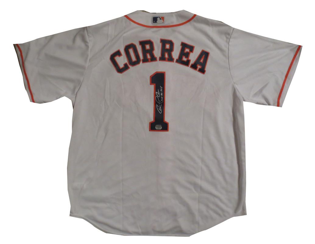 promo code 585f0 0b8fc Carlos Correa Autographed Astros Authentic Signed Baseball ...