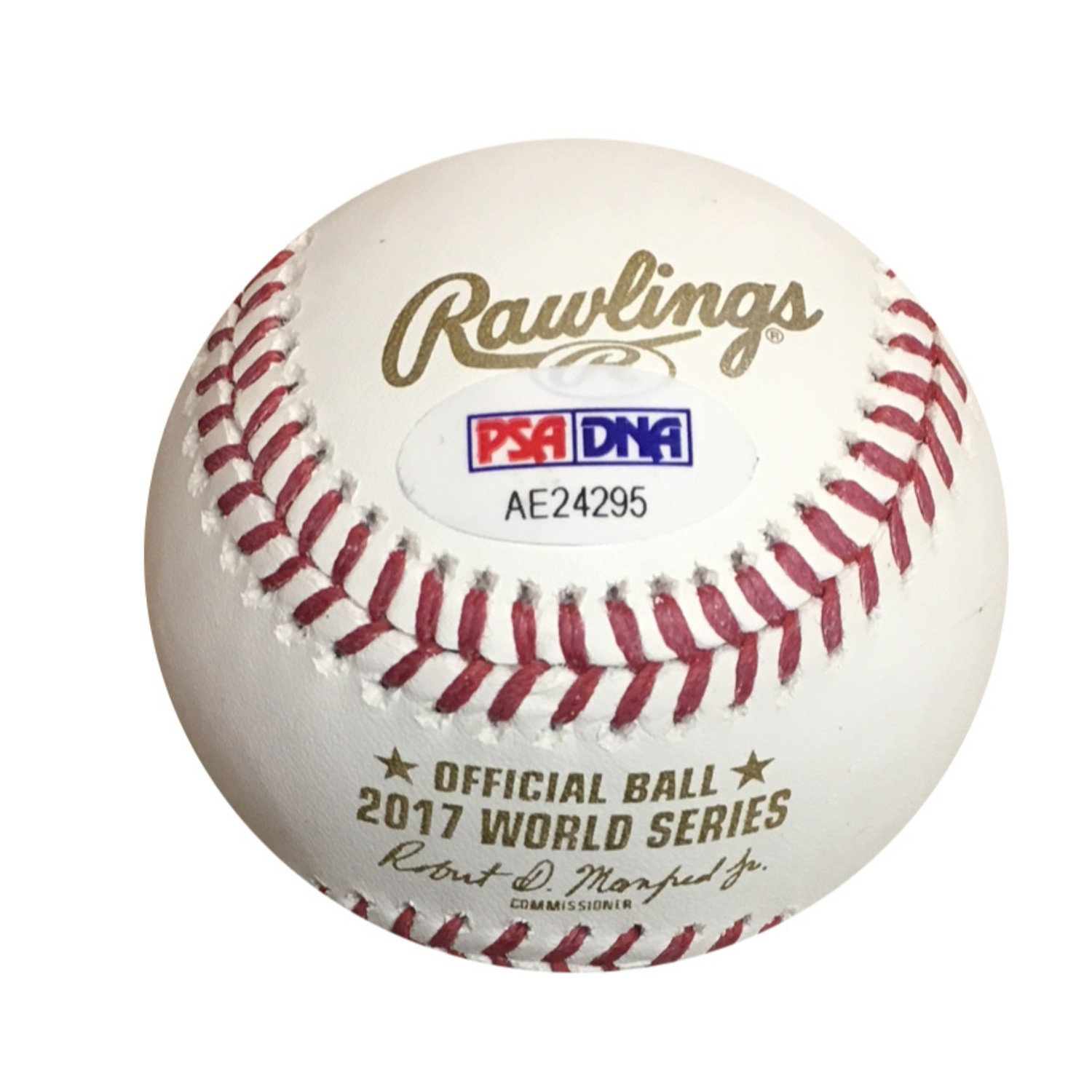 Carlos Correa Houston Astros Autographed 2017 World Series Signed Baseball PSA DNA COA 2017 World Series champion Carlos Correa has signed this official 2017 World Series baseball. Autograph is authenticated by PSA/DNA, the world's leading authenticator of sports autographs. Comes with their unique sticker # fixed to the item and verified on their website. Also, comes with their certificate of authenticity with same matching #.  Receive exact item shown.