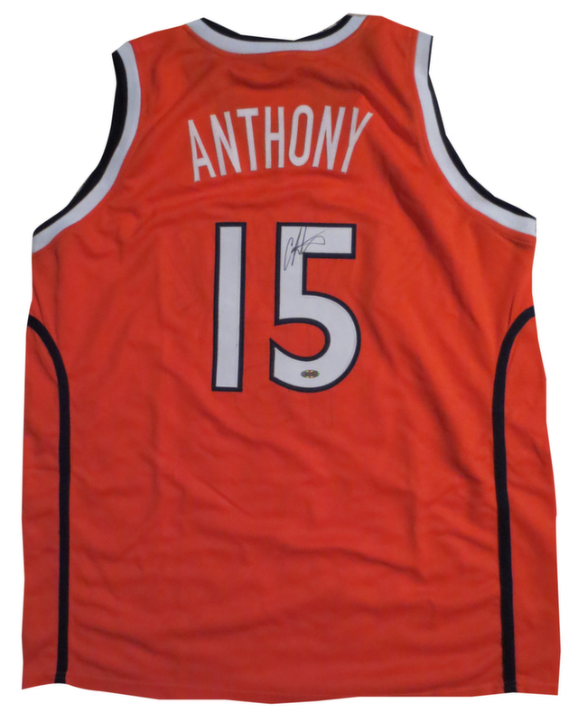 buy popular 321b9 58644 Carmelo Anthony Signed Syracuse Jersey from Powers Autographs