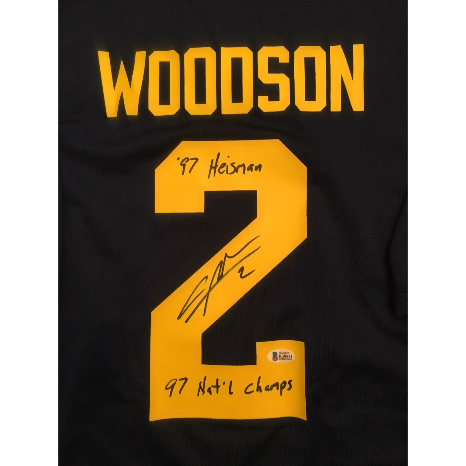 timeless design 95817 a634b Charles Woodson Autographed Michigan Football Signed Nike ...