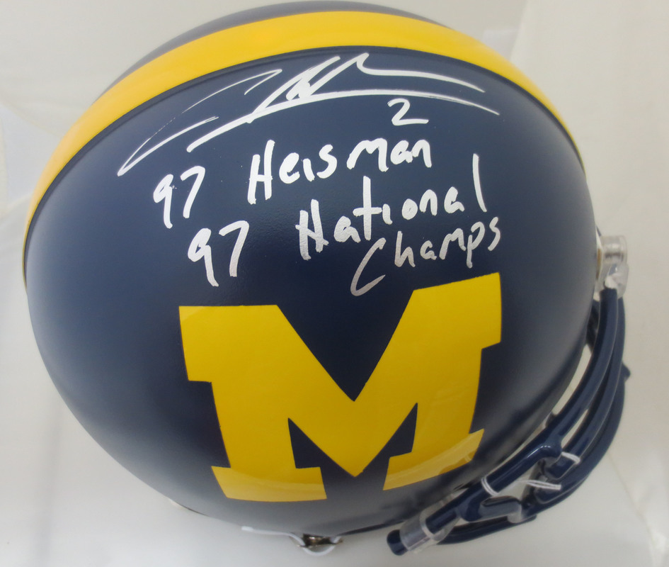 quality design 6ef12 c697a Charles Woodson Autographed Michigan Signed Heisman ...