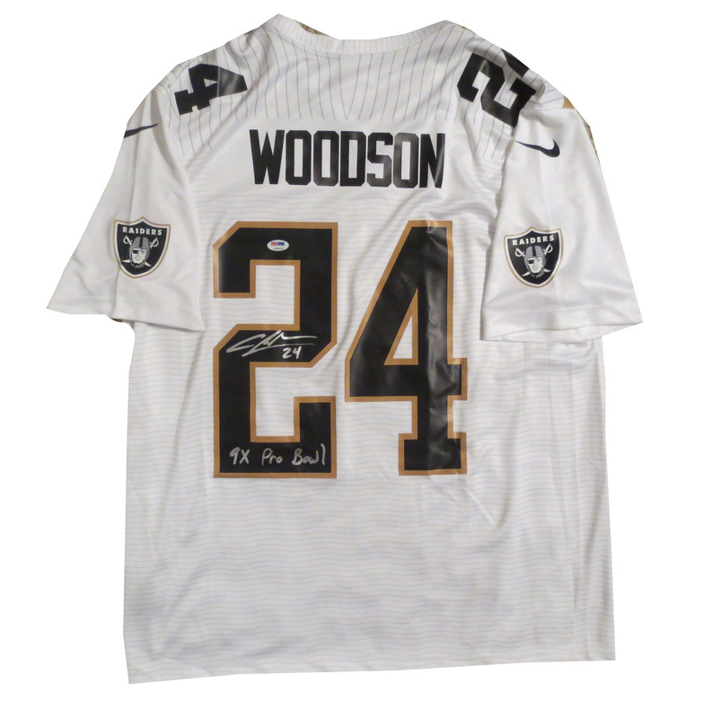 new styles 9fc8a 42c4b Charles Woodson Autographed 2015 Pro Bowl Nike Football ...