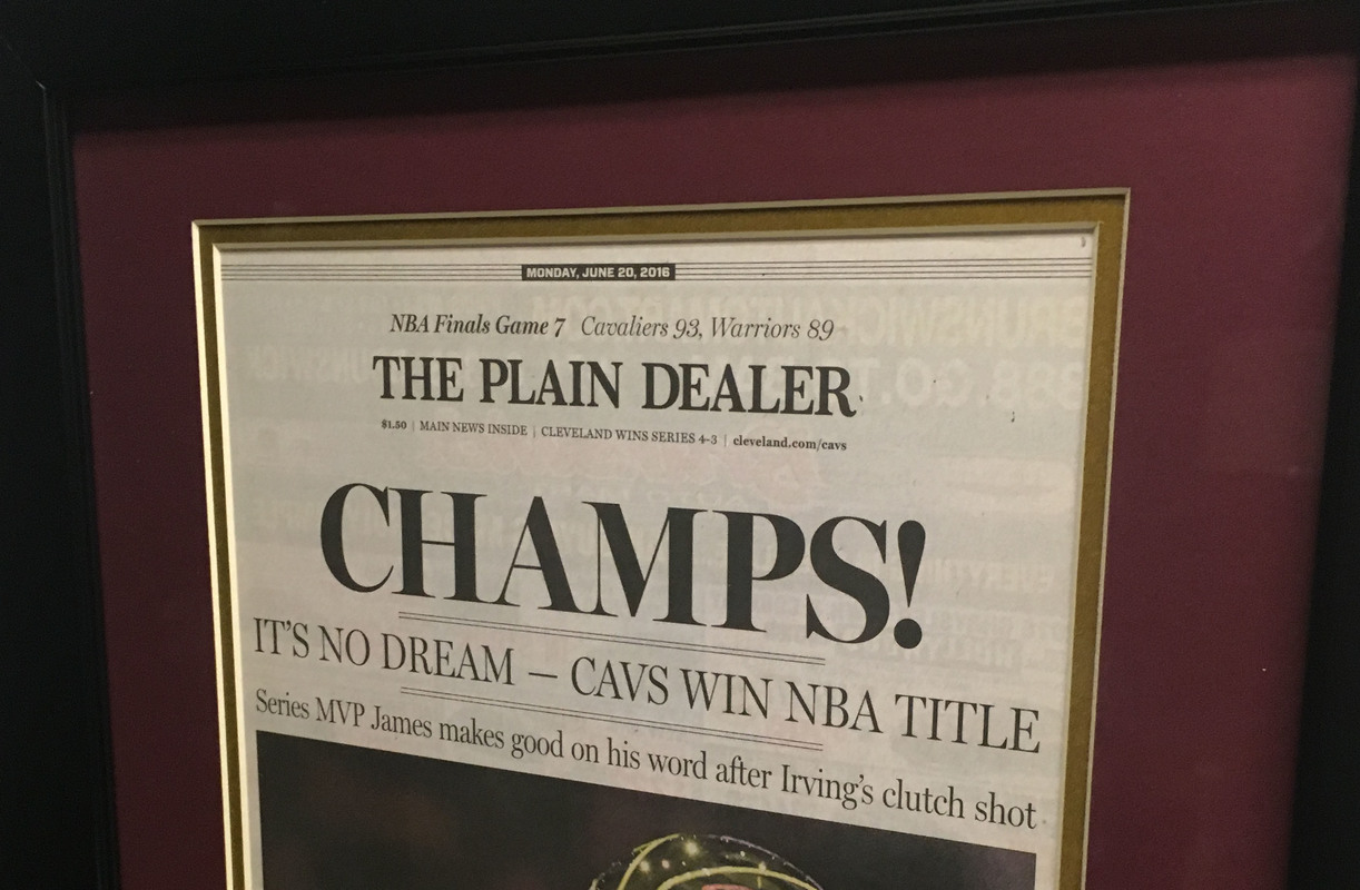 Cleveland Cavaliers Cavs Plain Dealer Nba Champs Framed