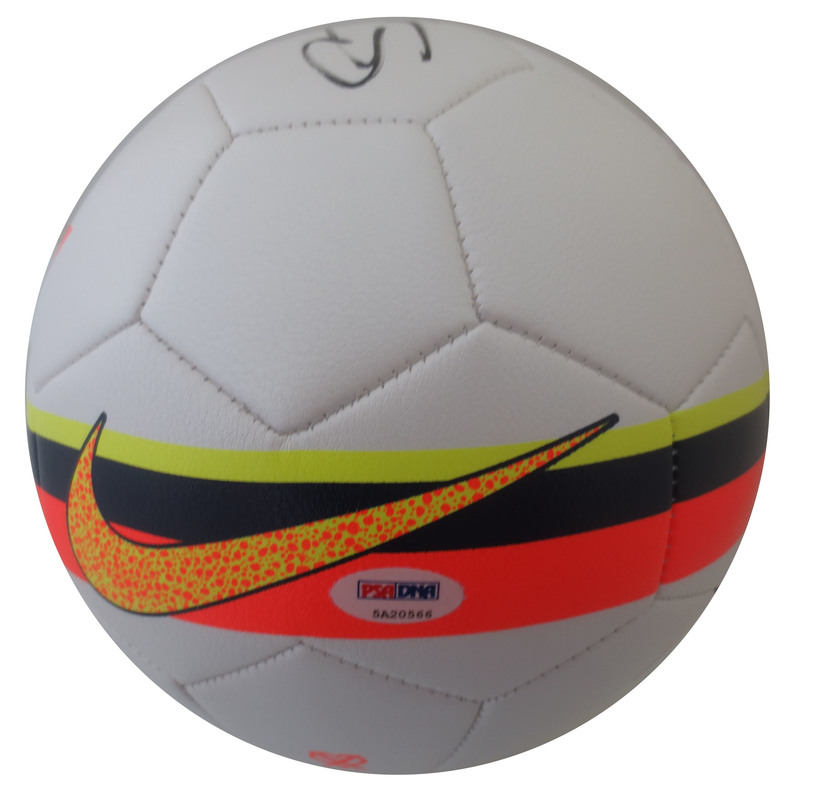 d256cfe0c4c Cristiano Ronaldo Autographed Real Madrid Authentic Nike Signed Soccer Ball  Futbol PSA DNA COA 1