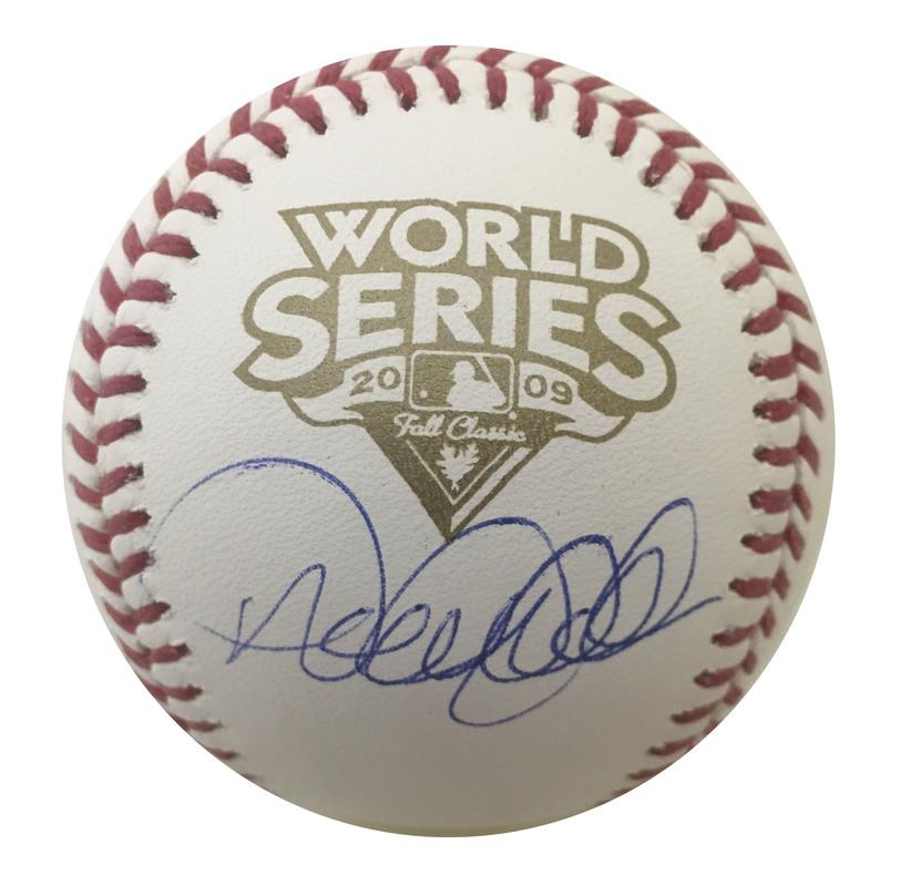 dbf46b6ecea Derek Jeter Autographed 2009 World Series Signed Authentic Baseball ...