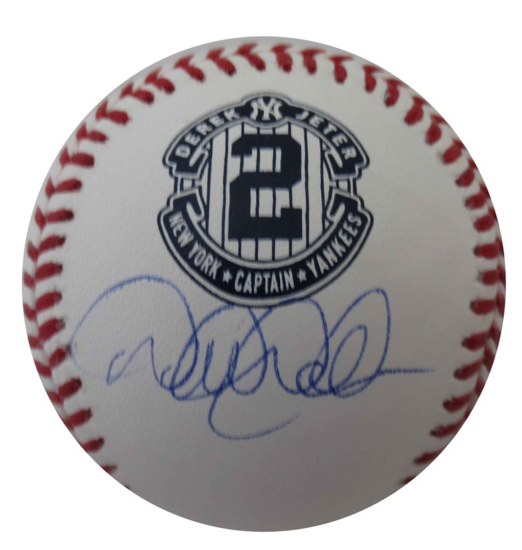 Derek Jeter Autographed Final Season Signed Baseball STEINER SPORTS COA and MLB AUTH