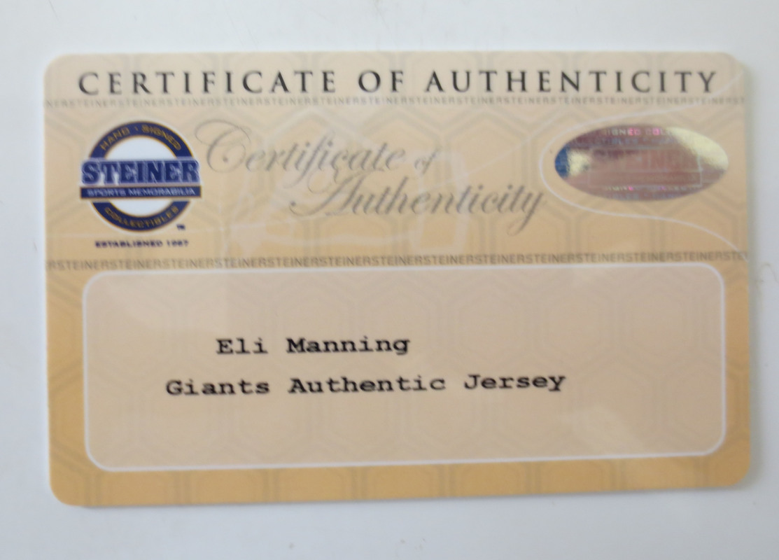 Eli Manning Signed Giants Jersey From Powers Autographs