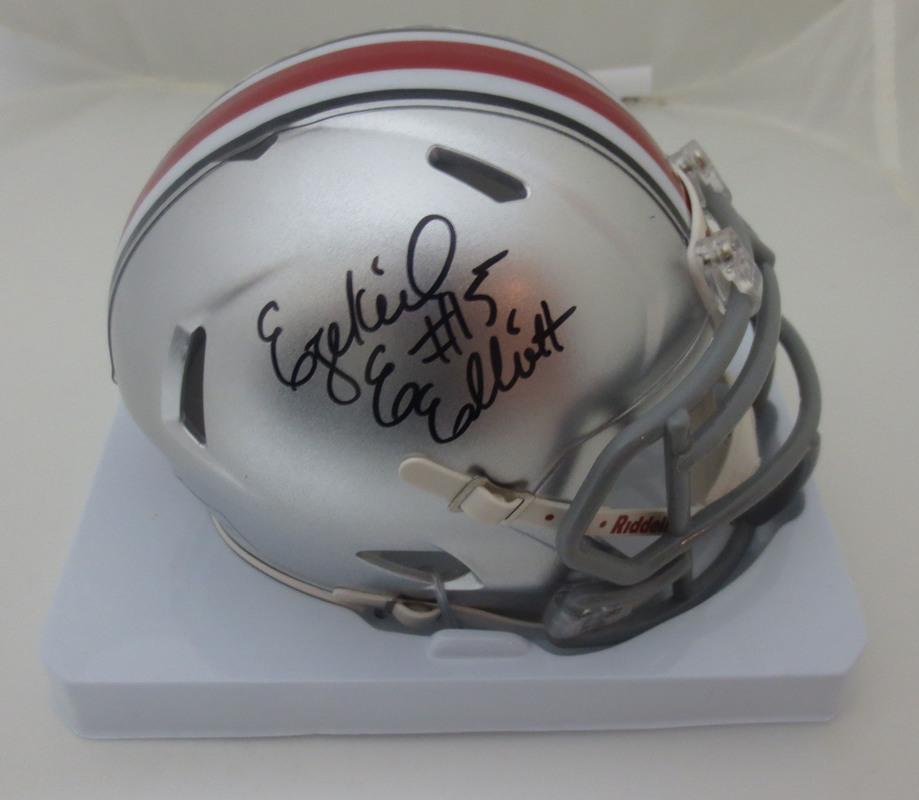 watch 87d0f 3fb06 Ezekiel Elliott Autographed Ohio State Signed Authentic ...