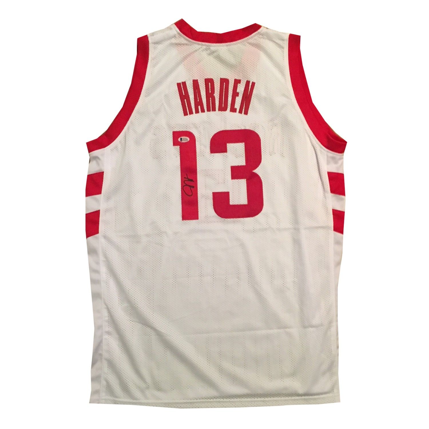 sports shoes f1f52 56fba James Harden Autographed Houston Rockets Signed Basketball ...
