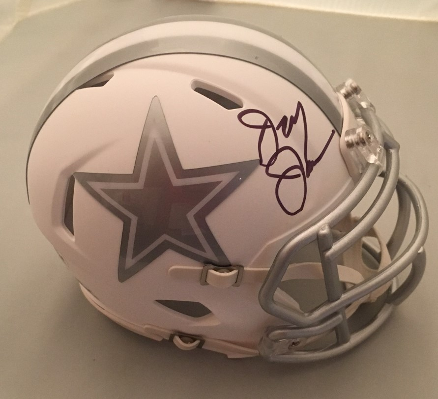 Jerry Jones Signed Cowboys Mini Helmet from Powers Autographs