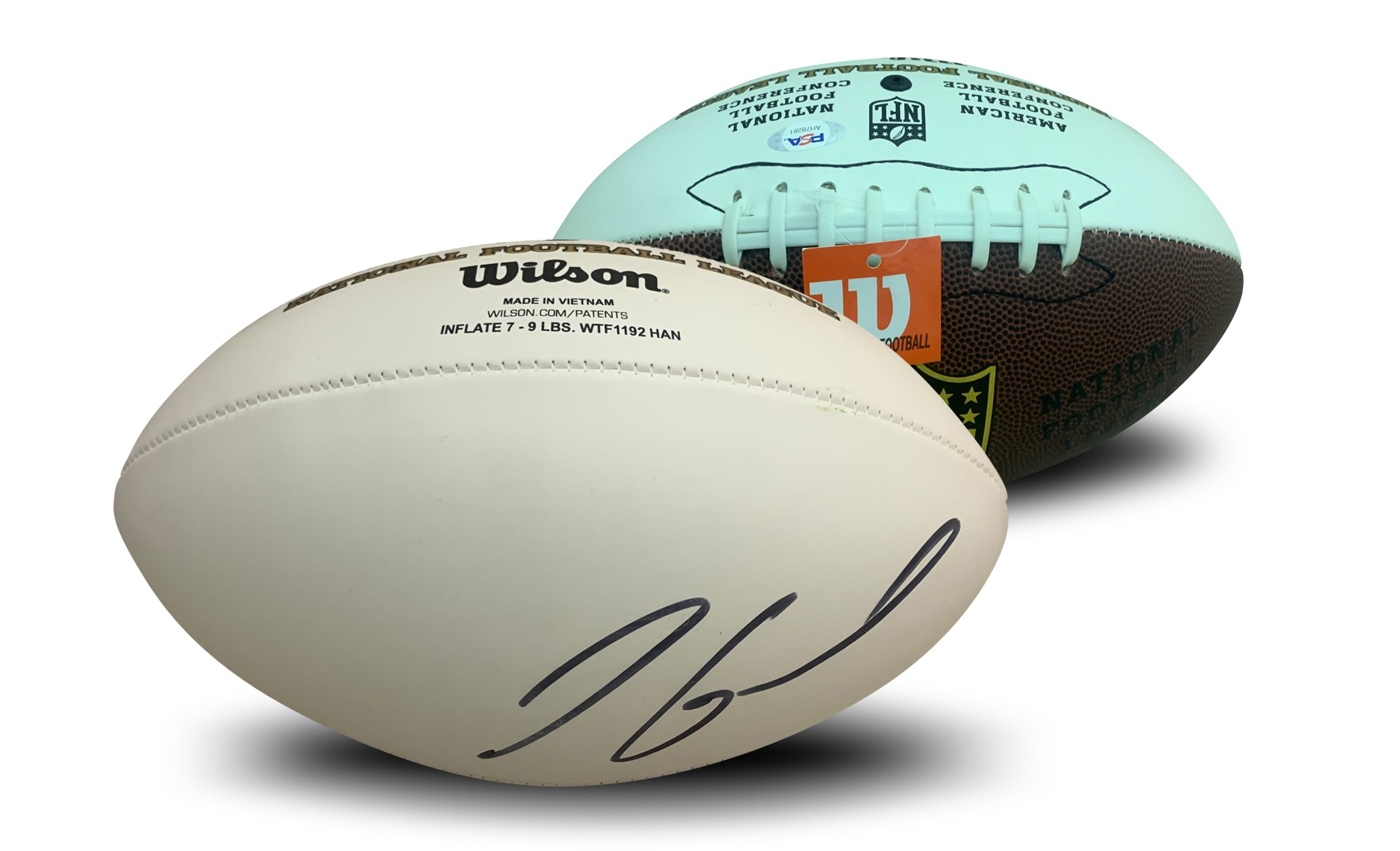 Jimmy Garoppolo Autographed San Francisco 49ers NFL Signed Football PSA DNA COA 49ers starting quarterback Jimmy Garoppolo has autographed this officially licensed NFL replica white panel football.  Autograph is authenticated by PSA/DNA, the world's leading authenticator of sports autographs. Comes with their unique sticker # fixed to the item and verified on their website. Also, comes with their certificate of authenticity with same matching #.