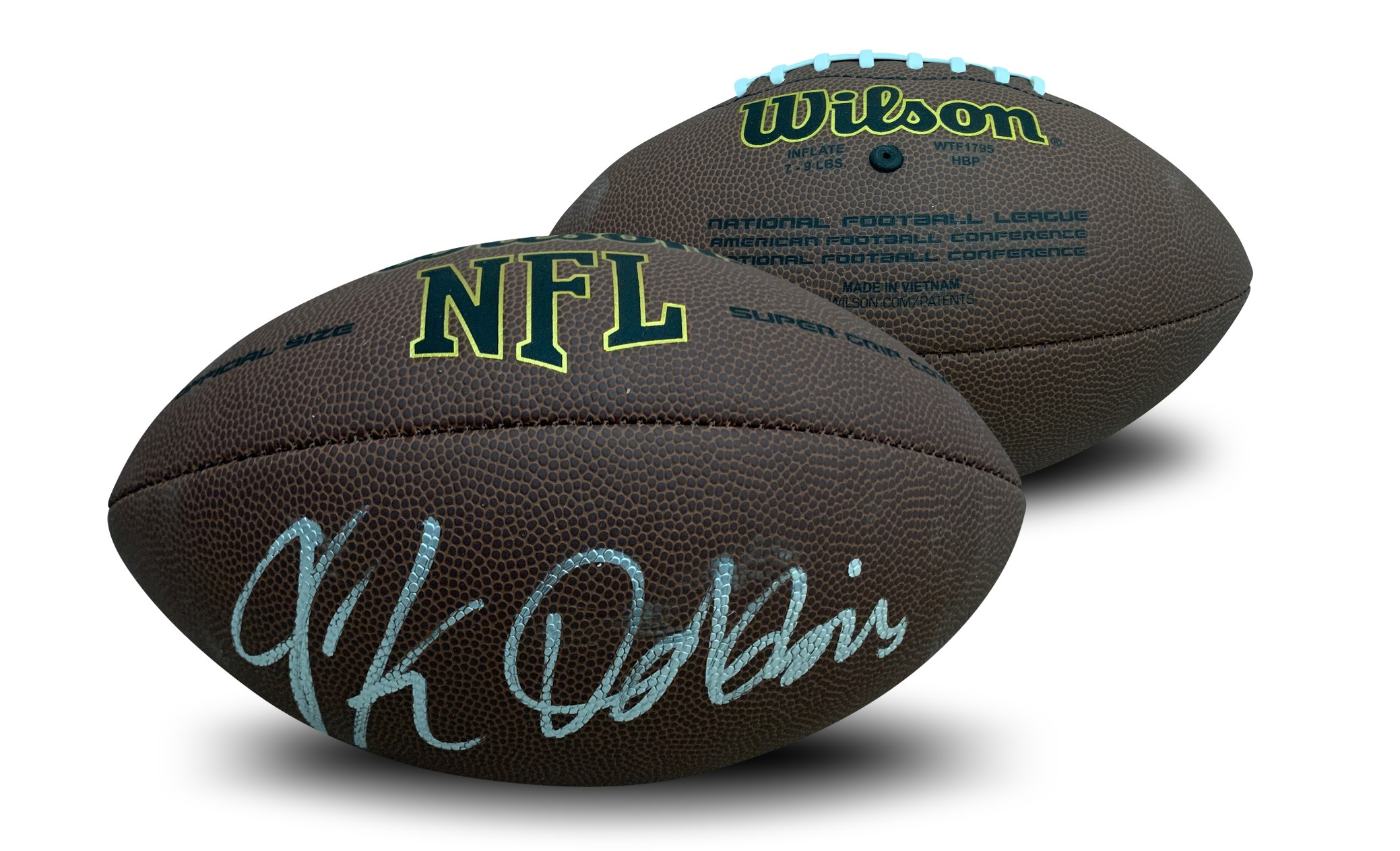"JK Dobbins Autographed NFL Signed Football JSA COA 2 Former Ohio State star running back and potential 2020 NFL Draft 1st round pick JK Dobbins has autographed this officially licensed NFL full size replica football. Autograph is authenticated by James Spence Authentication (JSA). Comes with JSA certificate of authenticity and matching sticker verified on their website and COA with same # on it. JSA is one of the world's leading authenticator of autographs. It is a ""witness"" COA, meaning a representative from JSA was present for the signing with Dobbins and witnessed him signing your item. 100% authentic.  Please note there is a slight smudge of the signature.  Receive exact item shown."