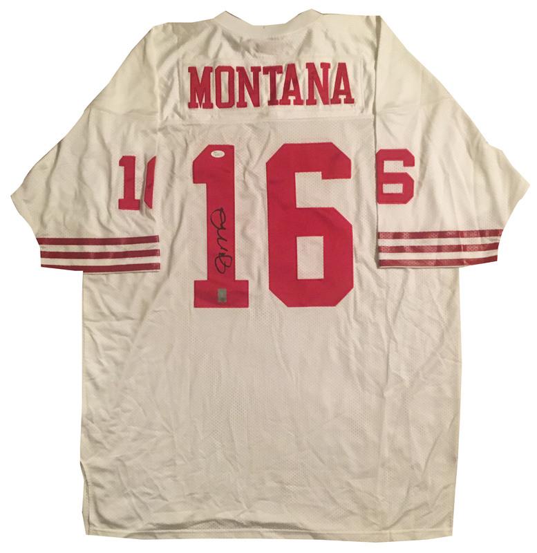 on sale d544f 41a30 Joe Montana Autographed 49ers Authentic Mitchell and Ness ...