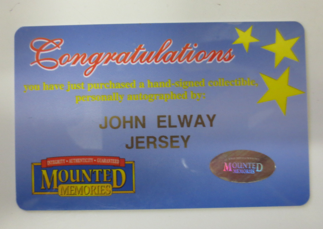 finest selection 38f0c 9fe57 John Elway Signed Broncos Jersey from Powers Autographs