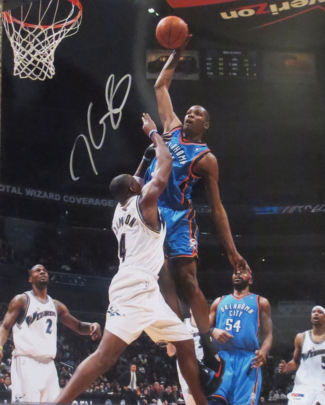 Kevin Durant Signed 16x20 Photo from Powers Autographs