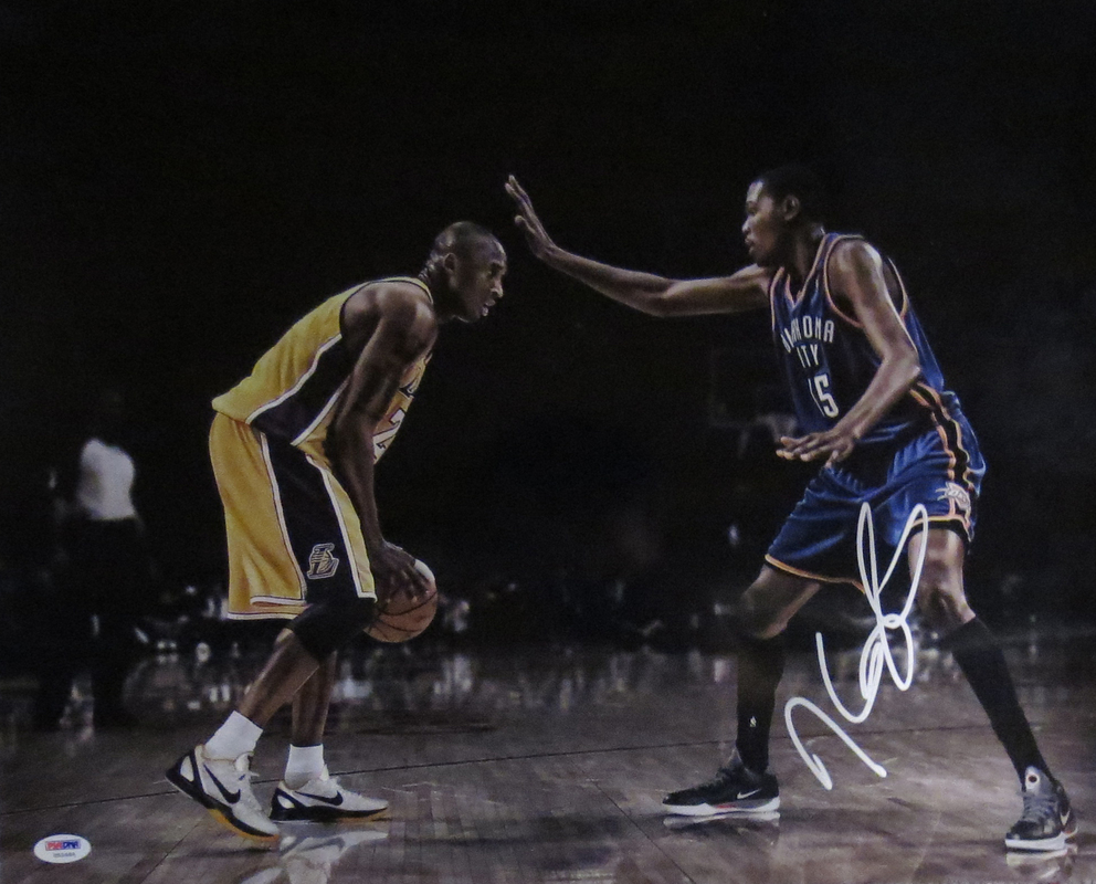 Kevin Durant Autographed Oklahoma City Thunder Signed 16x20 Photo PSA DNA COA Kobe Bryant